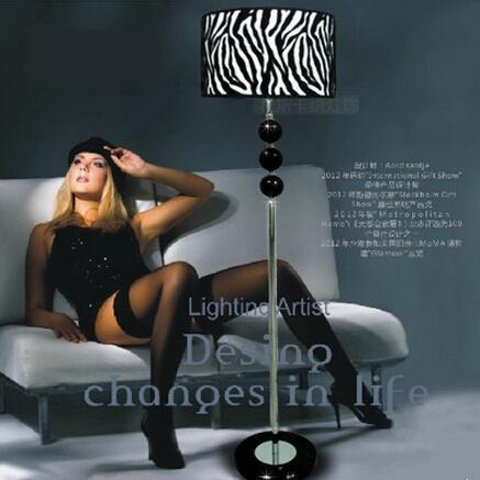 lampadaire zebre
