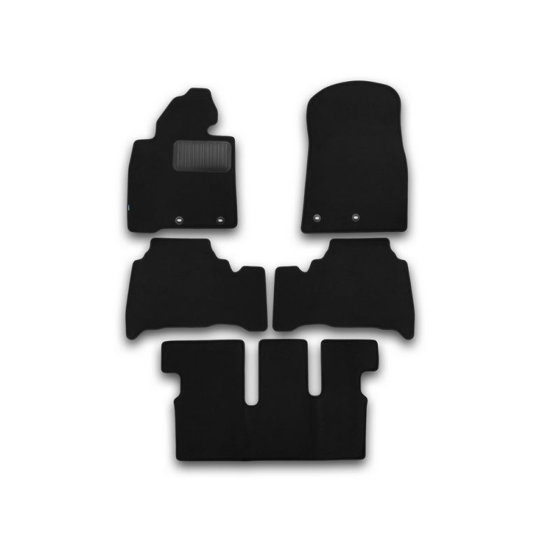 Mats in salon Klever Premium For TOYOTA Land Cruiser 200, 7 seats, AUTOMATIC TRANSMISSION, 2012-> внед... 5 PCs (textile) mats in salon klever premium for toyota highlander 2014 внед 5 pcs textile