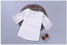 HIgh Quality Baby Girl Toddlers Kids Girls Toddler Casual Toddler Lace Floral T shirt Top Children Tops Fashion Shirts Clothing
