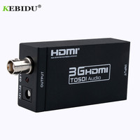 1 pcs Mini 3G SDI to HDMI Converter Adapter & DC 5V 1A Adapter HDMI SDI Converter 3G Full HD 1080P SDI to HDMI Adapter Video