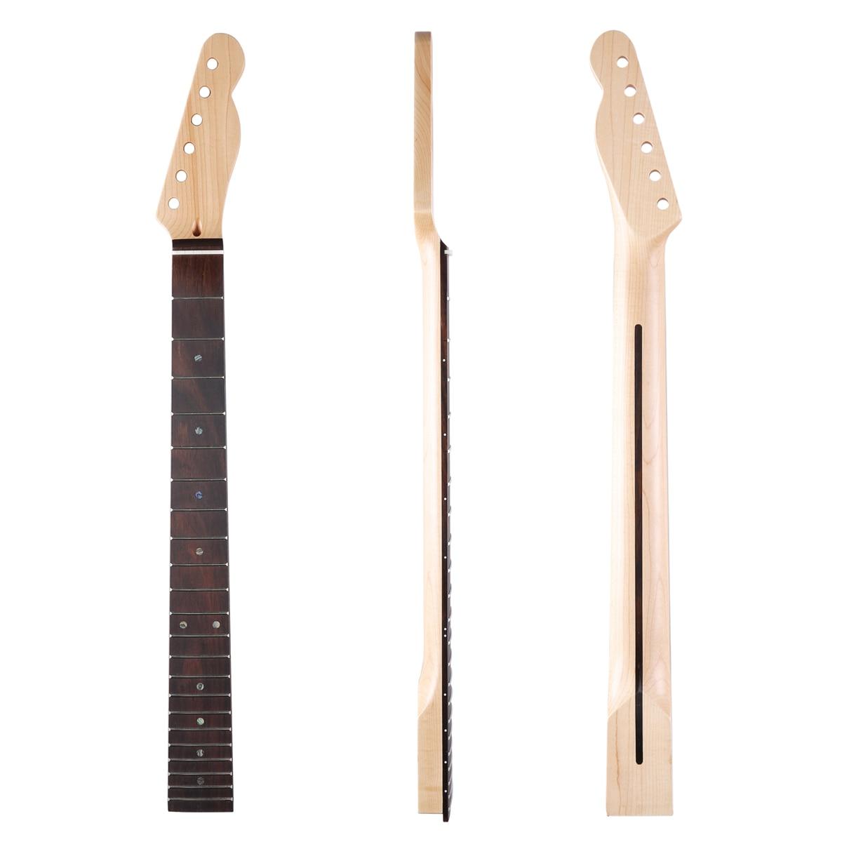 Dopro 22 frette manche de guitare télé érable canadien avec touche en palissandre incrustation d'ormeau et écrou d'os pour Telecaster