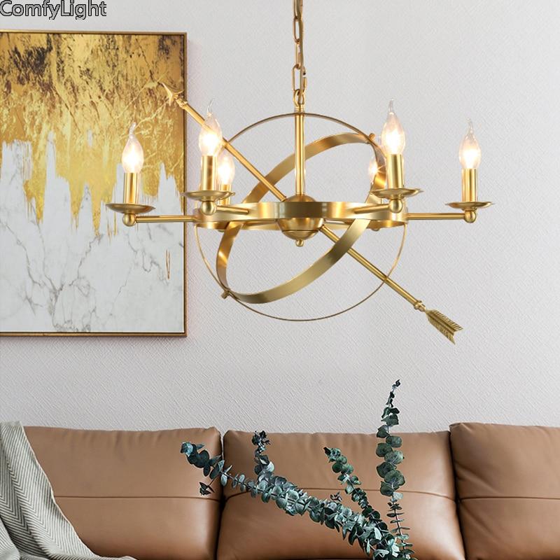 Modern LED gold Chandelier Lights Lamp For Living Room brass Lustre Chandeliers Lighting Pendant Hanging Ceiling Fixtures DesignModern LED gold Chandelier Lights Lamp For Living Room brass Lustre Chandeliers Lighting Pendant Hanging Ceiling Fixtures Design