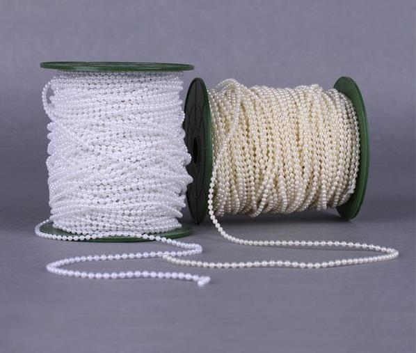 White Pearl Beads Strand Garland Acrylic Wedding Pearl: Aliexpress.com : Buy 50Meters/Roll 3mm White&Ivory