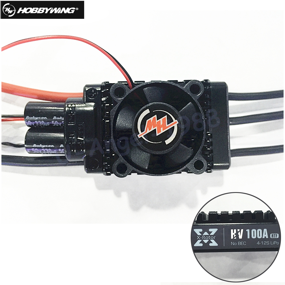 1Pcs 100% Original Hobbywing XRotor 100A HV Electronic Speed Controller ESC XRotor-100A-HV for RC Multicopters xrotor micro blheli 30a 2 4s esc electronic speed controller for hobbywing original rc helicopter accessories