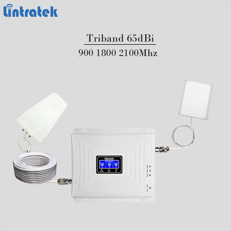 2018 neue triband celular signalverstärker 900 1800 2100 Mhz gsm handy-signal-repeater 3g 4g lte handy verstärker 65dBi tele2 #7
