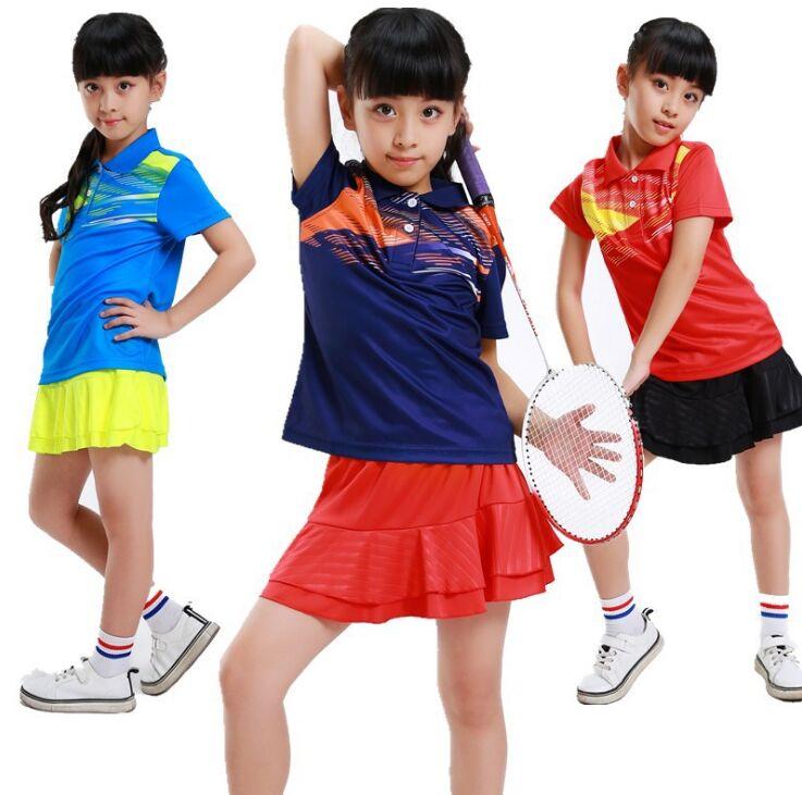 Девушки теннис футболка + юбки, Детская футболка бадминтон, девушка футболка бадминтон, homme бадминтон, теннисные юбки женская одежда