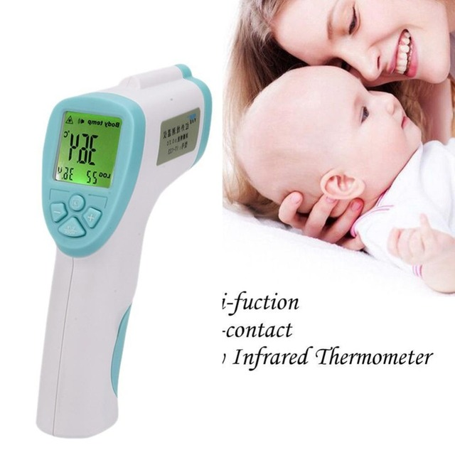 BLUE High quality Useful Non-contact Infrared Digital Thermometer Body Temperature Gun