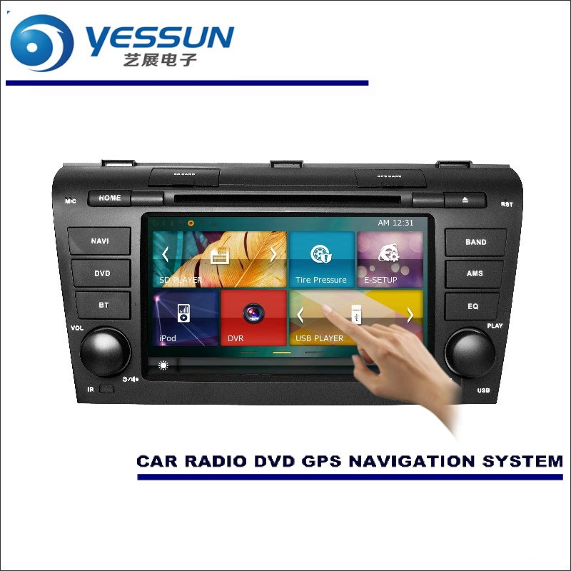 YESSUN For Mazda 3 2008~2013 Car Radio CD DVD Multimedia Player Amplifier Screen GPS Navigation NAVI WINCE Audio Video System yessun for mazda cx 5 2017 2018 android car navigation gps hd touch screen audio video radio stereo multimedia player no cd dvd