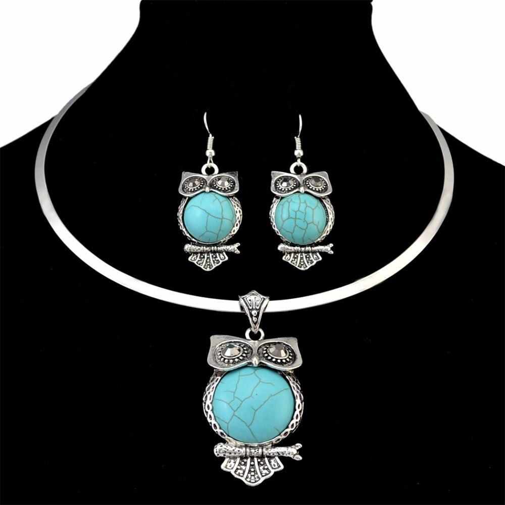 1Set Bohemia Style Tassel Choker Collar Necklace//Dangle Earrings Women Jewelry