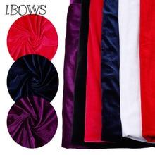45*160cm Velvet Fabric Cloth Gorgeous Silk for Dress Clothes Luxury Soft Purple Home Textile Curtain