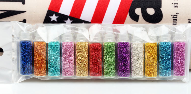 Blueness 12 Colors 3D Caviar Nail Art Women Glitters Diy Decorations For Nails Tools ZP143