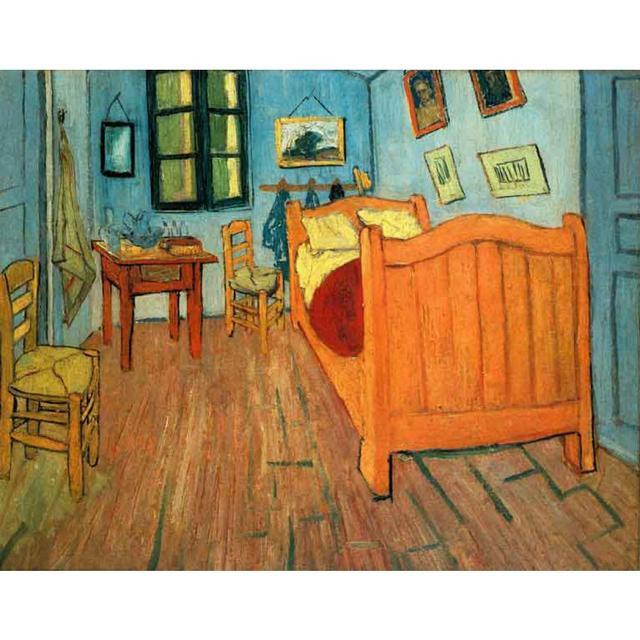 La camera da letto ad arles di vincent van gogh riproduzione della pittura a olio su tela a mano - La camera da letto van gogh ...