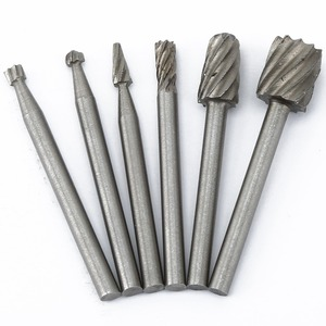 Image 5 - DRELD 6Pcs Dremel Accessories HSS Wood Routing Router Bits Milling Cutter Rotary File Set 3.17mm Shank for Drill Rotary Tool