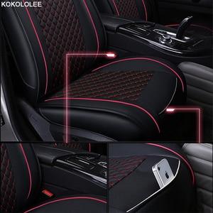 Image 3 - Kokolole ensemble de housses de siège de voiture, pour lada granta renault logan peugeot 206 geely emgrand ec7 ssangyong kyron, protecteur de siège