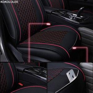 Image 3 - Kokololee Auto Stoelhoezen Set Voor Lada Granta Renault Logan Peugeot 206 Geely Emgrand Ec7 Ssangyong Kyron Autostoeltjes Protector