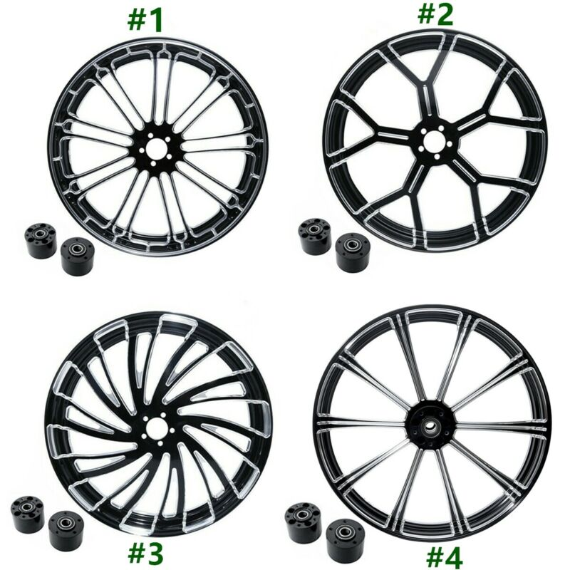 Motorcycle 18 21 23 26 Front Wheel Rim Dual Disc with Hub For Harley Touring Road King Electra Street Glide 2008-2019Motorcycle 18 21 23 26 Front Wheel Rim Dual Disc with Hub For Harley Touring Road King Electra Street Glide 2008-2019