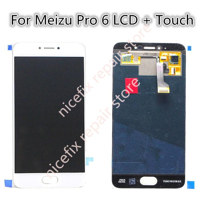 imágenes para Para meizu pro 6 pantalla lcd + pantalla táctil digitalizador asamblea para meizu pro 6 reemplazo probado piezas de montaje 2017 de la nueva llegada