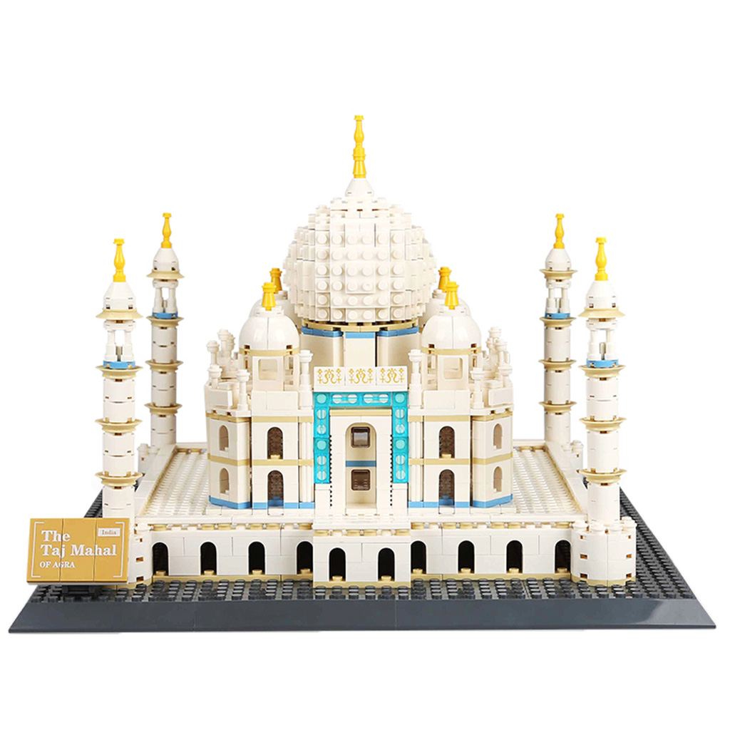 1505 PCS Plastic 3D Jigsaw Puzzle Building Blocks Construction Kits Kids Puzzle Game Toy -Taj Mahal of Agra basketball ru bun lock children puzzle toy building blocks