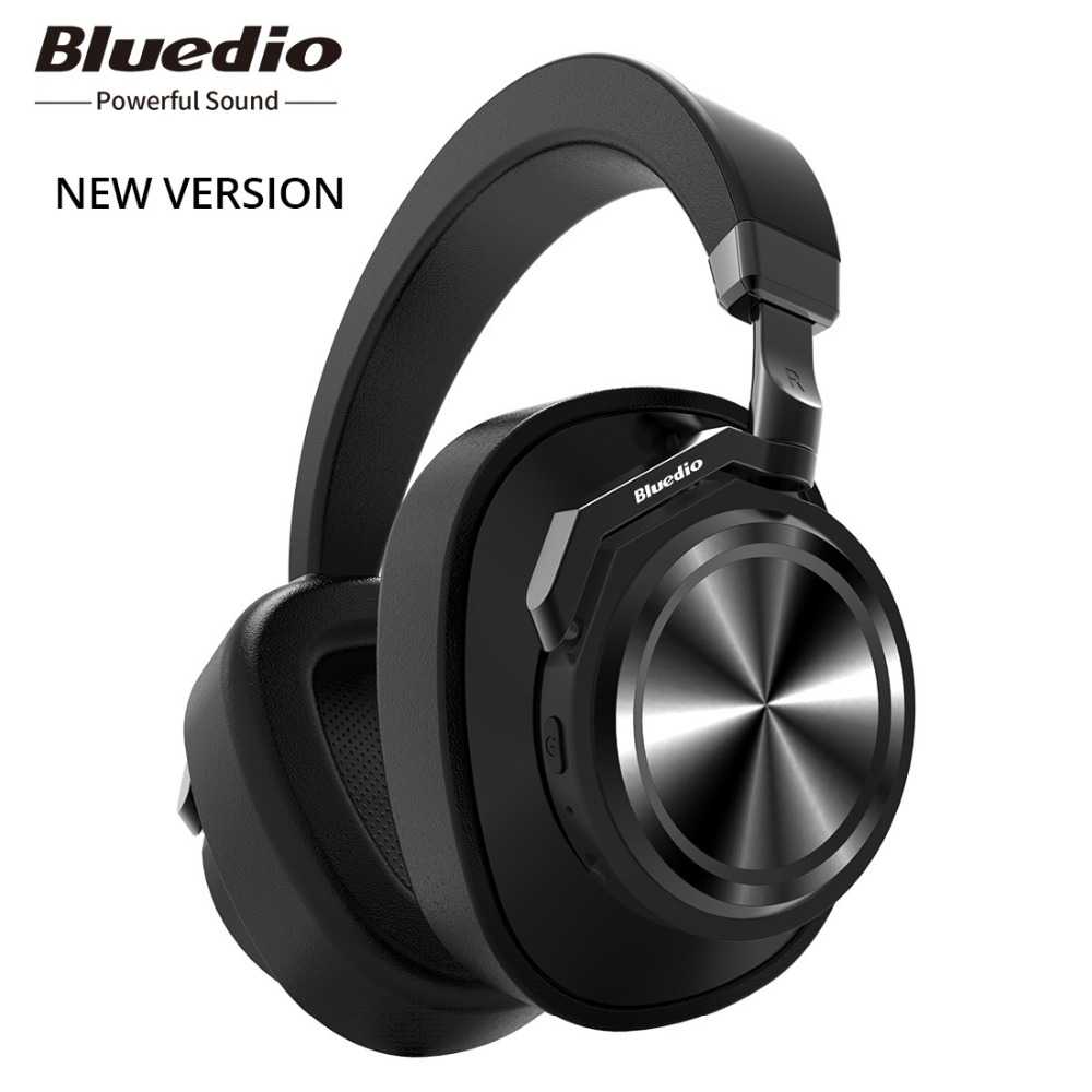 Original Bluedio T6 Active Noise Cancelling Headphones Wireless Bluetooth Headset with microphone for phones and music azgiant bluetooth 4 2 active noise cancelling headphones wireless bluetooth headset with microphone for phones and music
