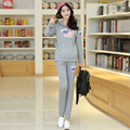 Maternity Clothes Sets Breastfeeding Cotton Roupa Gestante Clothing Nursing Clothes for Pregnant Women Tees + Pants Sets B34
