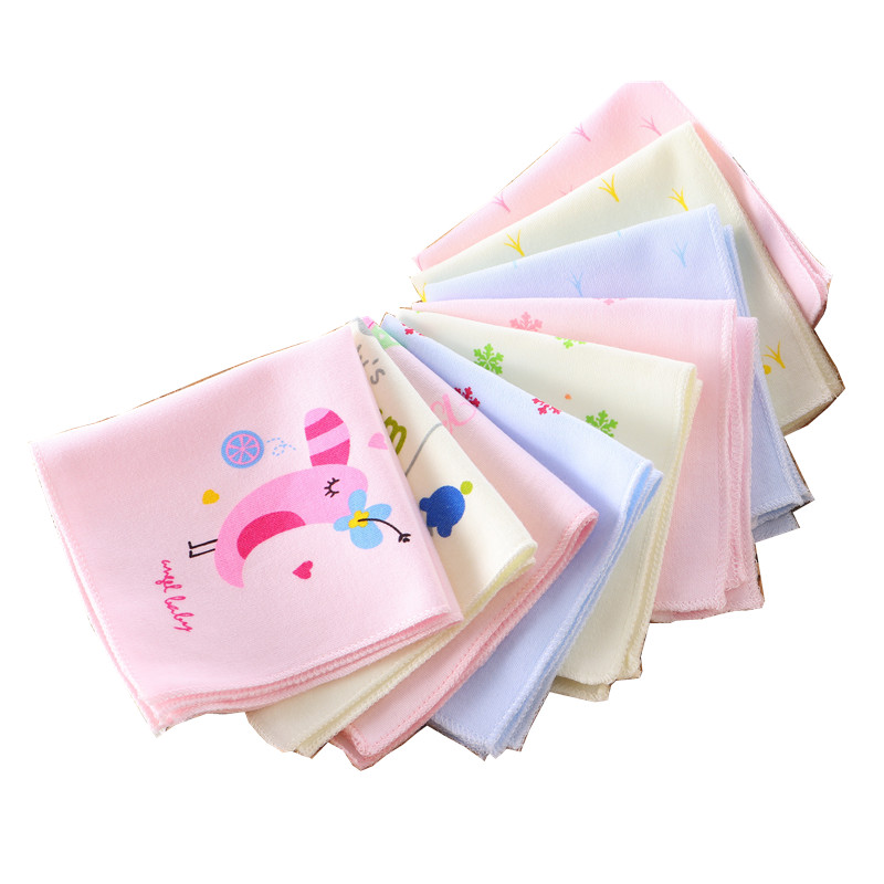 10 Pcs Baby Fütterung Baumwolle Handtuch Cartoon Dot Kinder Gedruckt Taschentuch Dünne Gaze Pflege Frottee Hanky Cep Mendil Taschentu So Effektiv Wie Eine Fee