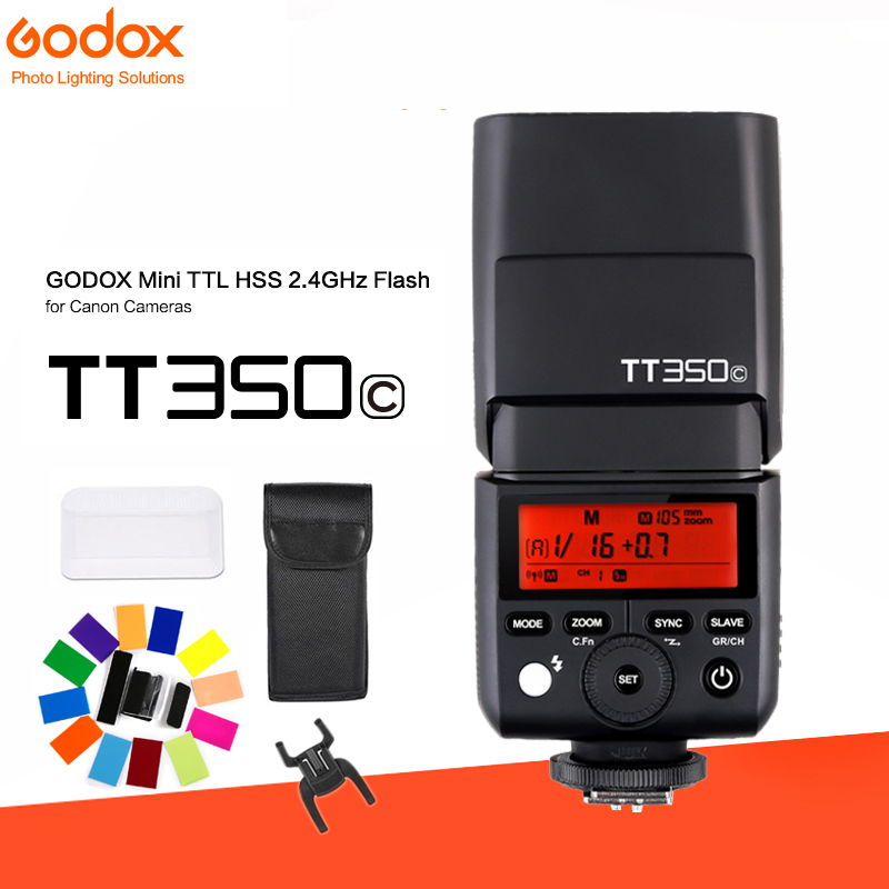 GODOX TT350C Mini Flash TTL HSS 2.4g sans fil + Émetteur pour Canon 70d 80d 6d 5d mark ii iii iv eos-1dx 7d ii 600d 650d 700d