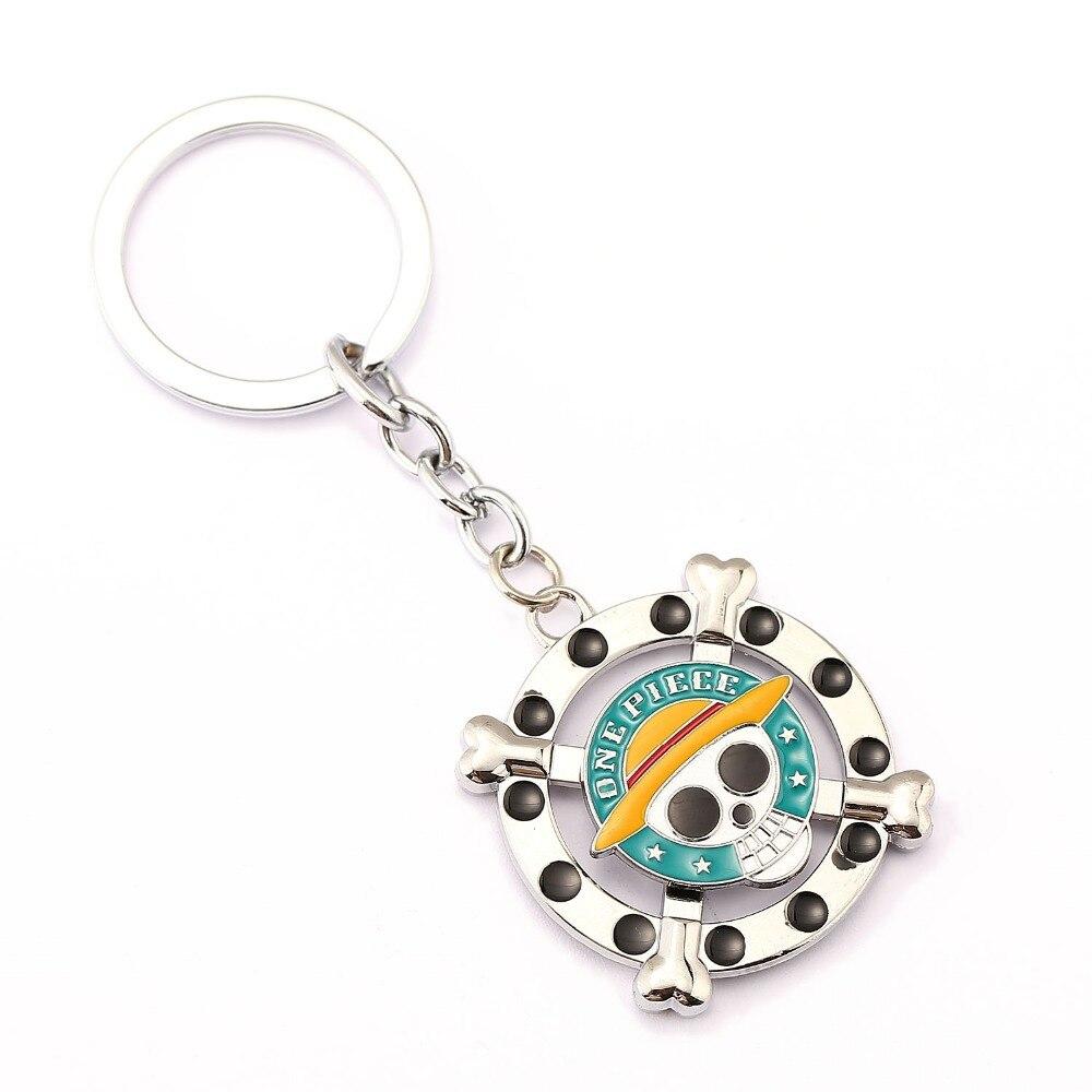 One Piece брелок вращающийся Луффи Брелок держатель подарок chaveiro Ключи цепи кулон аниме украшения сувенир ys11490