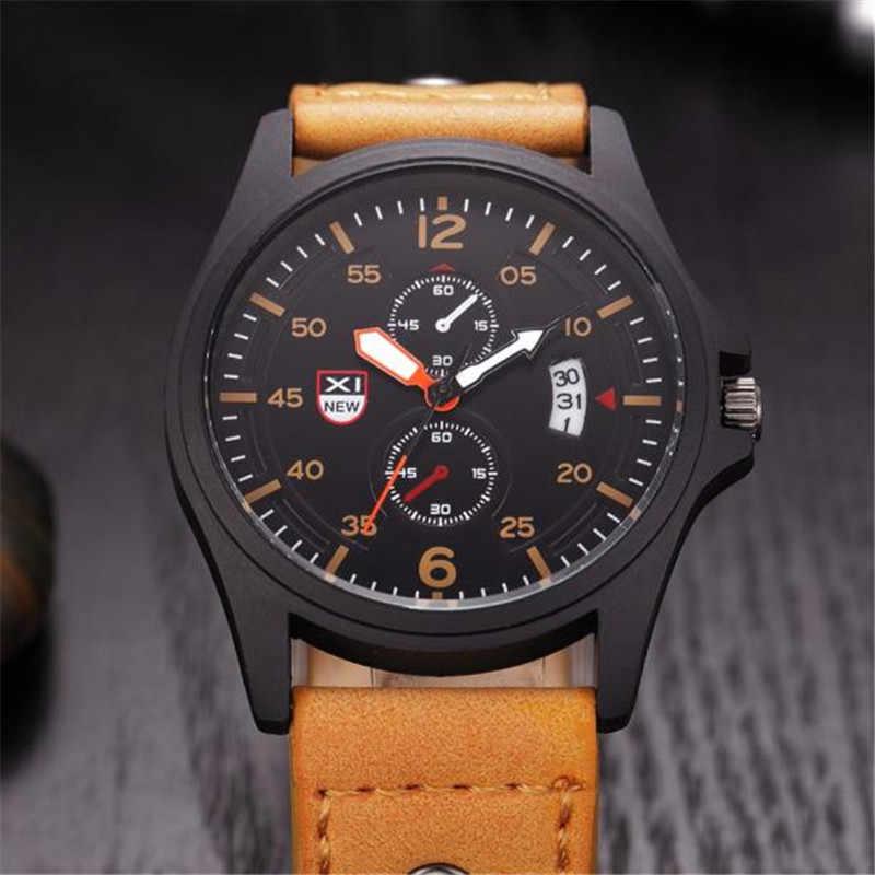 שעון גברים ספורט Mens שעונים למעלה מותג צבאי קוורץ שעון הכרונוגרף עמיד למים שעון Masculino