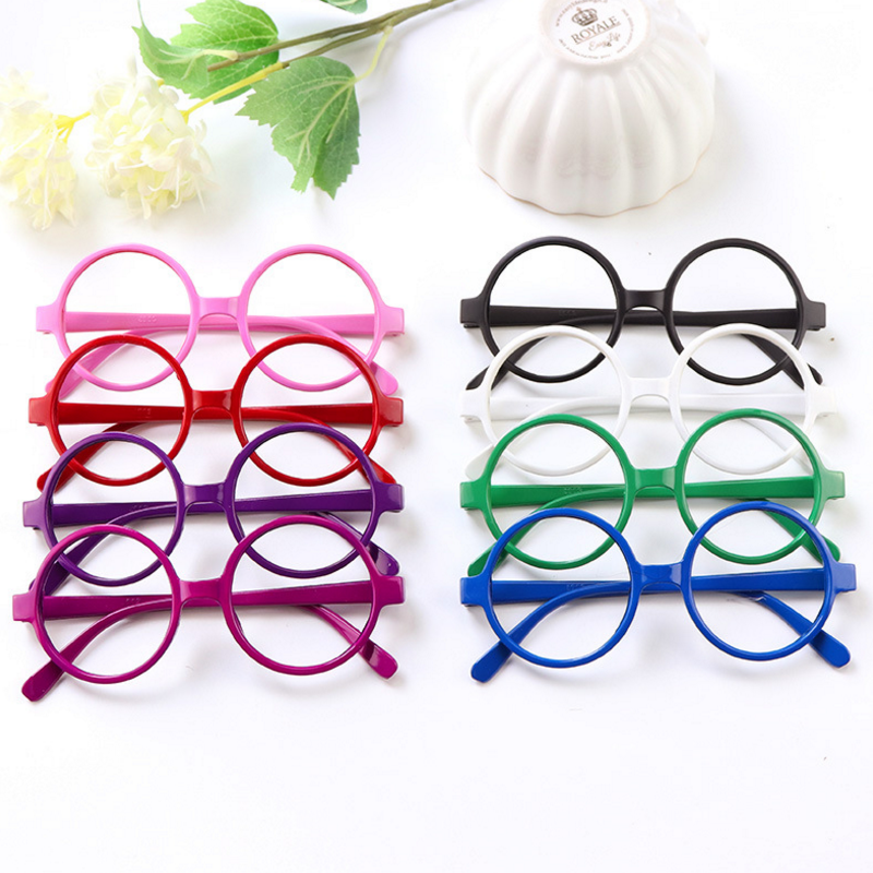 a2d924a577c 2pcs novelty Round Baby Glasses Frame Kid Glasses Color Randomly Birthday  Gifts Children Funny Glass Toys