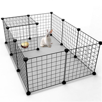 Pet Fence 35*35cm Iron Net Dog Cage Kennel Free Combination Dog Fence Puppy House Pet Small Animal Rabbit Cage