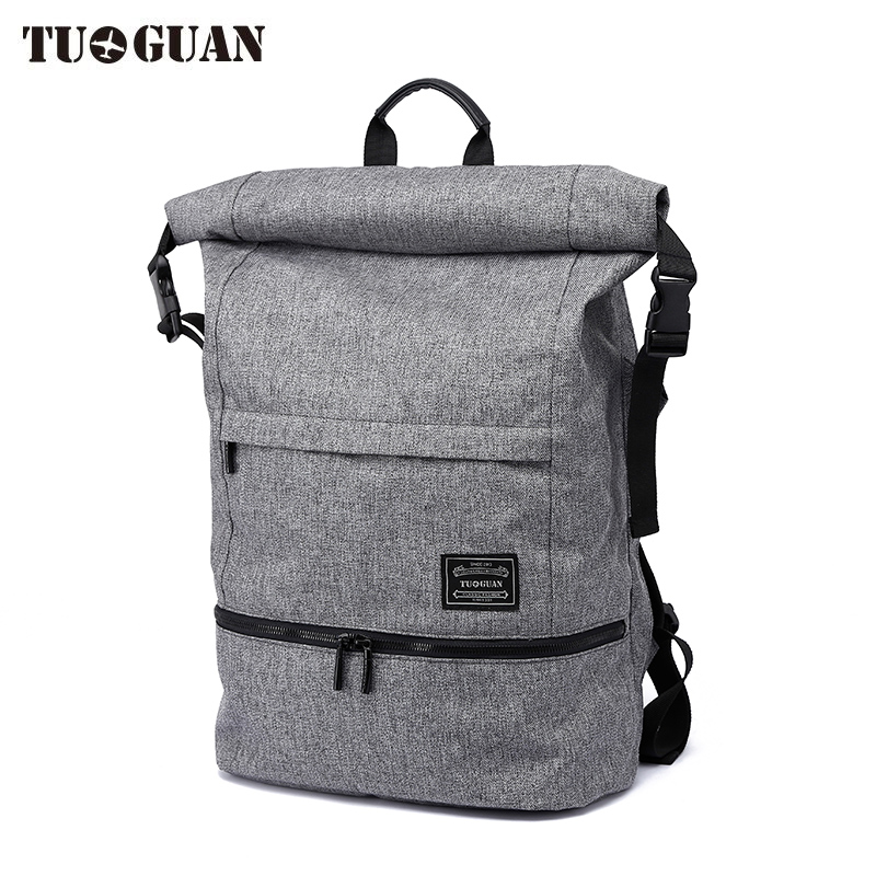 TUGUAN Backpacks for Men and Women Wet the isolation Solid Preppy Style Soft Backpack Unisex School Bags Big Capicity Canvas Bag