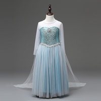 Girl Dresses Cinderella Princess Dress Children Clothing Anna Elsa Xmas Cosplay Costume Kid S Party Dress
