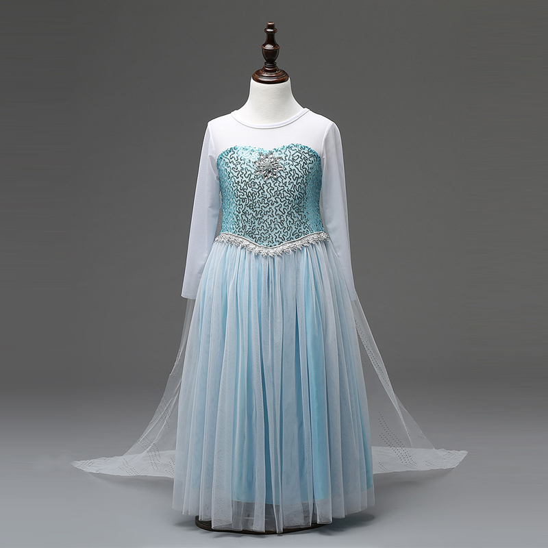 Girl Dresses Cinderella Princess dress Children Clothing Anna Elsa Xmas Cosplay Costume Kid's Party Dress Baby Girls Clothes elsa dress sparkling snow queen elsa princess girl party tutu dress cosplay anna elsa costume flower baby girls birthday dresses
