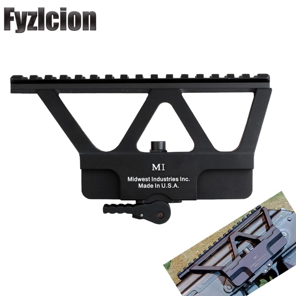 For Hunting AK 47 74 Rifle Scope Quick Detach Gun Side Rail Mount Base Fits 20mm  Picatinny Mounting