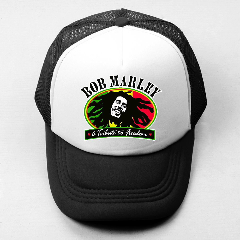 Bob Marley Robert Nesta Marley Reggae Music Funny Baseball Cap Men Women Boys Girls Hat Mesh Snapback Caps Hip Hop Trucker Cap