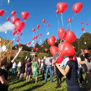 Image 4 - Гигантские латексные шары, 50 шт./лот, 36 дюймов, Гелиевый шар в форме сердца, украшение для свадьбы, дня рождения, подарки, игрушки
