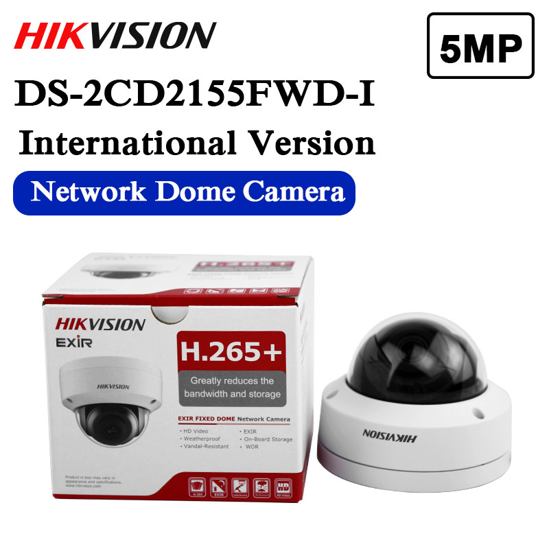 HIKVISION 6MP DS-2CD2163G0-IS POE 2.8mm H.265 Audio//AlarmCCTV Security IP Camera