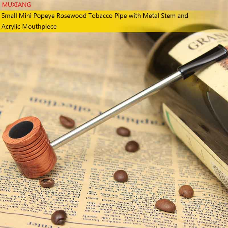MUXIANG Mini Pipe Popeye Small Tobacco Pipes Men Cigarette Wooden Portable Pipe Beginner Pipe new year christmas no filterad0023