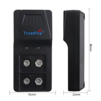 50pcs/lot TrustFire Intelligent Charger 9VBC01 Li-ion Battery 2 Slots with Micro USB Port Charging For 9V Lithium NIMH Batteries