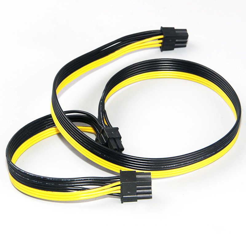Modular PSU Power Supply Cables PCI e Molex 6pin to 2 PCI-e 8 pin 6+2pin PCI Express Internal Power Splitter Ribbon Cable