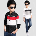 School Boys Blouses Cotton Casual Children Shirts For Boys Formal Costumes Spring Patchwork Teenage Tops 6 7 9 11 13 14 15 Years