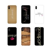 Para Huawei P Smart Mate Honor 7A 7C 8C 8X 9 P10 P20 Lite Pro Plus Gossip girl logotipo Pastel arte cartel transparente fundas de TPU cubierta