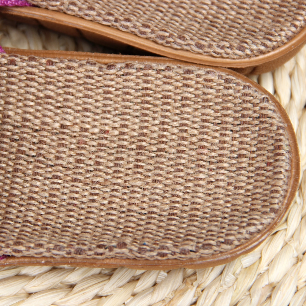 2019 Spring and summer home flax slippers men slippers sandals - Men's Shoes - Photo 6