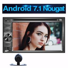 "OCTA Core Android 7.1 coche estéreo 2DIN 6.2 ""Radios GPS SWC teléfono enlace Bluetooth WiFi 4G FM AM RDS Radios + cámara trasera"
