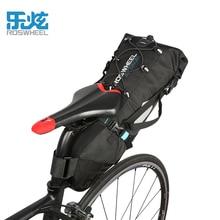 Roswheel Bike Bag 10L Nylon Waterproof Bicycle Saddle Bag Cycling Rear Seat Bag Tail Pannier Bike
