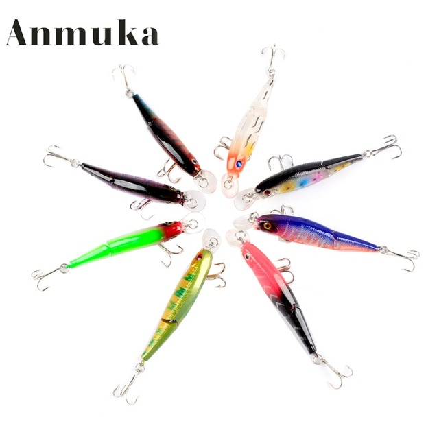 Anmuka Jointed Fishing Lures 8.8CM 7.4G Hooks Fishing Tackle Equipment Pesca Fish Bait Hard Artificial Lure Wobbler Minnow 13010