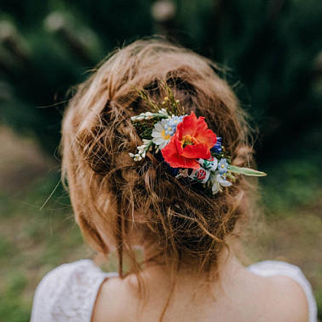 Handmade Flowers Headband Women Flower Wedding Garland Hair Accessories Girls Flower Hairband Bridal Headdress