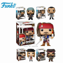 FUNKO POP Pirates of the Caribbean-JACK Sparrow-Captain Salazar-Elizabeth Action Figure Star Collection Model Toys new arrival gudi 9115 pirates of the caribbean series black pearl jack sparrow figure building block toys