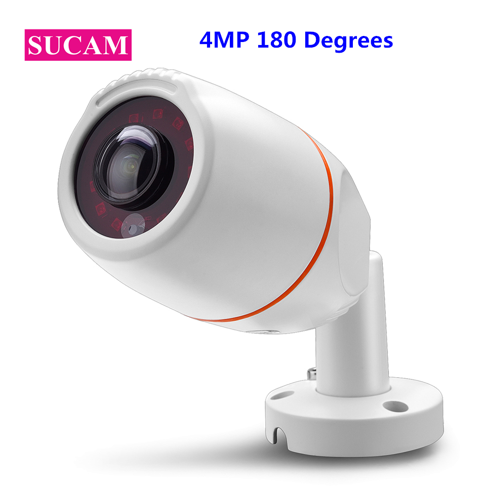 SUCAM 4MP AHD Camera Fisheye Panorama View 180 Degrees 360 Degrees Waterproof Surveillance Security Night Vision Cameras Outdoor sucam wide angle 5mp ahd security camera outdoor 1 7mm 180 degrees fisheye lens night vision waterproof cctv camera with bracket