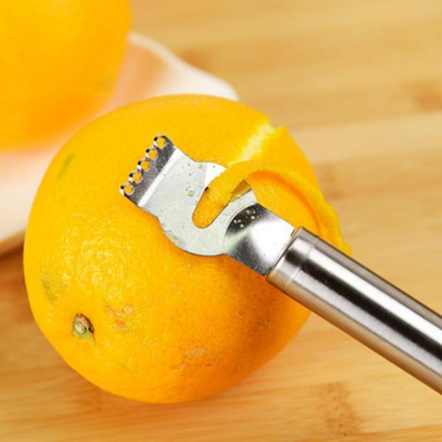 1Pc Stainless Steel Fruit Peelers Lemon Orange  Peeler Grater Stainless Steel Grips Lime Zest Peeling Tool